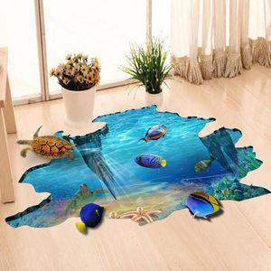 3D Galaxy Underwater World Wandaufkleber für Deckendach Fenster Aufkleber Wandbild Dekoration Persönlichkeit Wasserdicht Boden Aufkleber