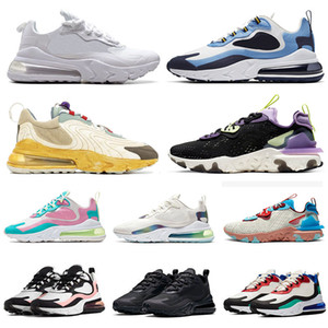 stock x chaussures de course React Vision air max 270 react ENG Travis Scott Cactus Trails off white vans asics BAUHAUS UNC Bubble Pack Hommes Femmes ALL Noir Baskets Sneakers