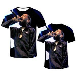 Fashion Designer Men TShirt Rapper Nipsey Hussle Souvenir Crenshaw Short Sleeve Plain Black 3D Print Tshirt