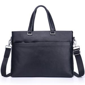 100% Cow Genuine Leather Business Men's Briefcase Male Briefcase Shoulder Bag Men Messenger Tote Computer Bag New