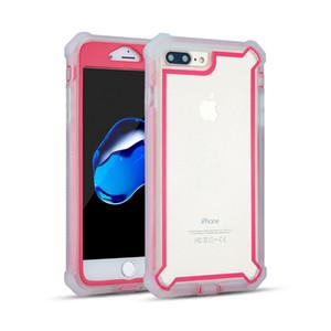 Para iPhone 6 7 8 Plus XS Max XR TPU PC Hybird 3 en 1 Defender Fundas protectoras de teléfono en el panel posterior