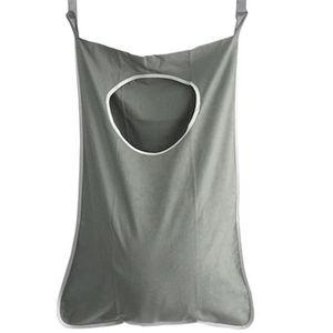 Porta Hanging Bags lavanderia per Dirty Lavatriceno Macchine fissato al muro Bagno Storage Bag Hanging lavanderia Hamper con ganci Y200429