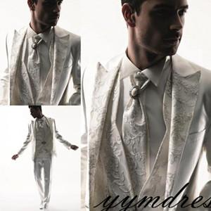 2019 النمط الغربي الرجال البدلات الرسمية الشركة البدلة ماركة بوس اللباس البدلة للرجال الزفاف الأعمال الرسمي بنين الدعاوى العريس البدلات الرسمية البيضاء