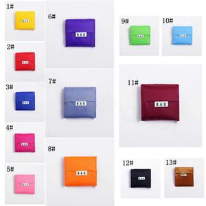 Compras Basczfg Almacenamiento bolso plegable portátil utilizable reutilizable ultramarinos exterior sólida Carrier totalizador de bolsas de embalaje coloridas 100pcsT1I180