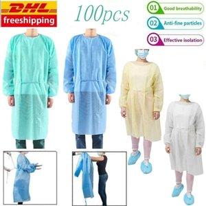 IN Auf wasserdichte Isolation Kleidung Frenulum Schutzkleidung Einweg-Kittel One Time Non Stoff gewebt Schutzanzüge