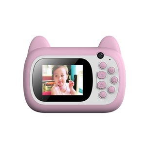 Children's Instant Camera Full HD 24 Million Dual Lens Cute Rechargeable Digital Mini Screen Camera Children's Educational Toys Outdoor Game