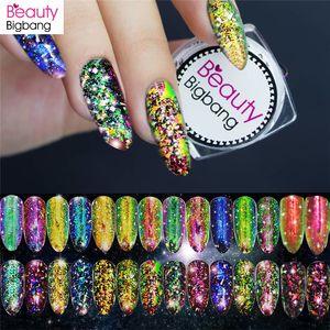 BeautyBigBang 0,2g Chameleon prego Glitter Paillette Irregular pó Coral Cor Nail Art Glitter Lantejoulas Manicure Detalhes