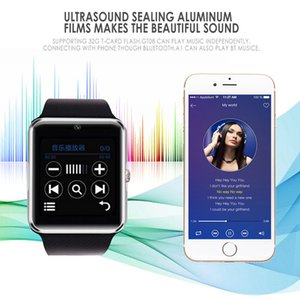 2020 Best Hot SmartWatch GT08 Bluetooth Smart Watch with Camera SIM card For IOS Android Wearable Touch Clocks Waterproof Cell Phone Watches