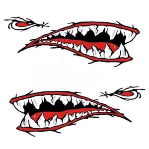 Nouveaux autocollants de corps d'autocollants de voiture de bateau de bateau de kayak de dents de requin