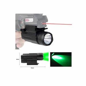 FIRECLUB 150 Lumens Green LED Mount Tactical Gun Flashlight Pistol Light with Strobe&Weaver Quick Release for Hunting, Black