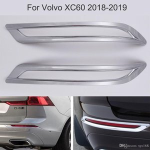 2 Chrome Car Rear Fog Light Lamp Frame Cover Trim Strip For Volvo XC60 2018-2019