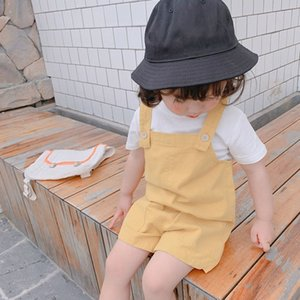Baby Boys Girls Overalls Kids Solid Denim Rompers Summer Toddler Cute Pants Clothes 1-4Y
