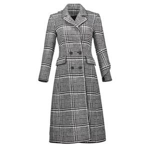 Pop 2019 Young17 Outono Mulheres Casaco Preto Doce Elegante Assimétrica Falbala Patchwork Uma Linha Casacos de Inverno Outono Decente Quente Trench Coat