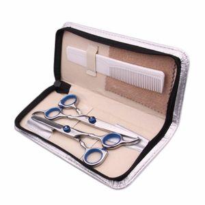 SMITH CHU Hair Scissors Set 6 Inch Cutting Thinning Styling Tool Salon Hairdressing Shears Regular Flat Teeth Blade With Bag
