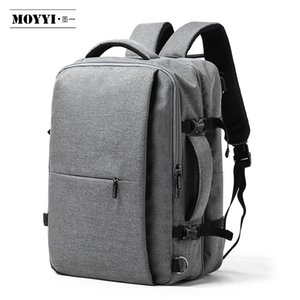 MOYYI Business Travel doppio scomparto Zaini multistrato con unico borsa digitale per 15.6 pollici Laptop Backpack Mens Borse