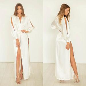 Chaqueta atractiva de la señora ropa de noche de boda del equipo de prendas de vestir de novia vestido de dama de Albornoz Prom Party Made camisón Sheer personalizada