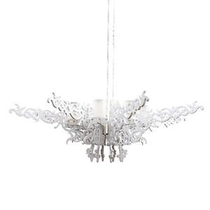 Dia100cm / 130 centímetros Branco oco Ala luminária moderna do quarto Iluminação Luzes pendentes G9 Resina Estudo Hanglamp