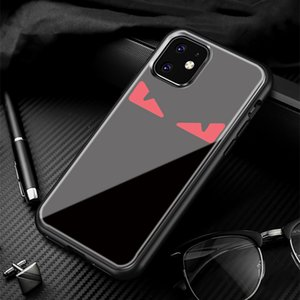 New Designer Brand Tempered glass phone case for iphone 11 Pro max X XS XR XS Max Devil eyes back cover for iphone 7 7plus 8 8plus