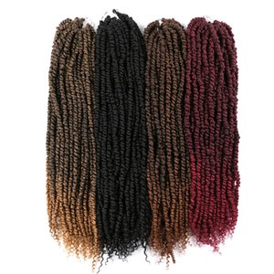 Passion Twist Crochet Hair Afro Kinky Curly 24 Inch Long Bohemian Crochet Braid Synthetic Passion Twist Natural Hair Extension 100g pc