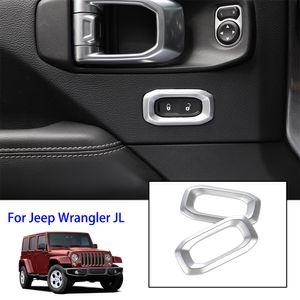 Prata Fechadura Chave decorativa anel Para Jeep Wrangler JL 2018 Factory Outlet alta quatlity Auto Acessórios Interno