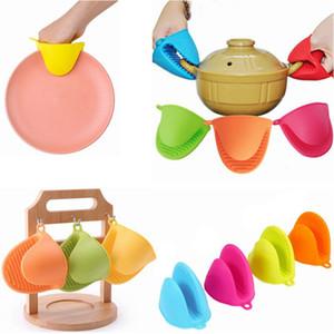Calore del silicone guanti resistenti clip Isolamento Non Stick antiscivolo Pot clip del supporto della cucina accessori per la cottura del forno cucina dei guanti mezzi