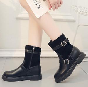 뜨거운 판매 - 인 마틴 부츠 여성 짧은 튜브 새로운 가을, 겨울 순 빨간색 여성의 신발 야생 한국어 얼짱 얇고 얇은 부츠