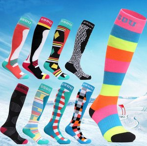 Couples breathable ski socks womens mens ski stockings thick thermal running snowboarding ski socks winter outdoor sports socks high quality