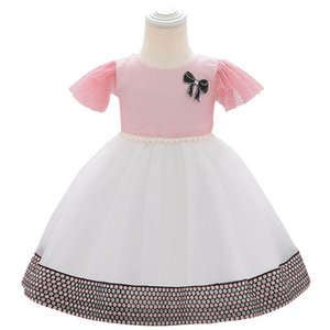2020 new lace baby girl dress baby girl baptism gown christening dress baby girl 1st birthday party dresses girls dresses retail B1206