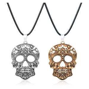 Ölü İskelet kolye kolye Erkekler Charm Takı Hediye Of MQCHUN 2018 Moda Klasik Meksika Şeker Kafatası Kolye
