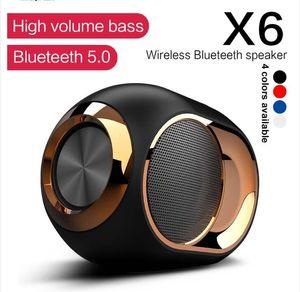 X6 drahtlose Bluetooth Dusche Lautsprecher HiFi-Stereo-Sound Wasserdichte Bass-Lautsprecher-Musik Surround Soundbar FM TWS SD AUX Lautsprecher