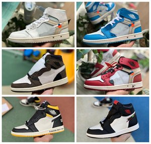 2020 Travis Scotts X 1 High OG Mid Basketball Shoes Cheap Royal Banned Bred Black White Toe Men Women Jòrdan 1s Shoes