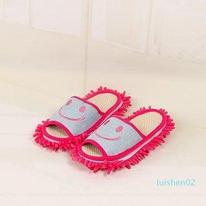 All'ingrosso-Cotton Sorriso modello pantofole multifunzionale pigra mop pulito pantofole scarpe Casa L02
