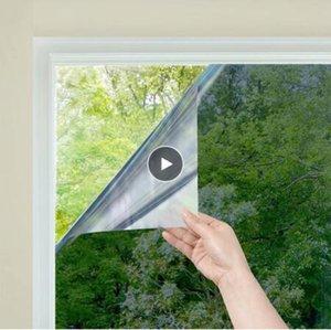 One Way specchio Glass Window Films diurna sulla Static Control non adesive di calore decorativo anti UV della tinta della finestra per casa e ufficio