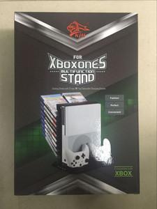 Mutilfunction consola de juegos sostenedor del soporte del ventilador de refrigeración Soportes W / USB de almacenamiento con estación de carga para Xbox One S adelgaza la consola