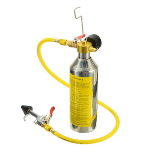 LOONFUNG LF224 Car Air Conditioning Pipe Cleaning Tool A C Flush Canister Kits Bottle For R134a R12 R22 R410a R404a