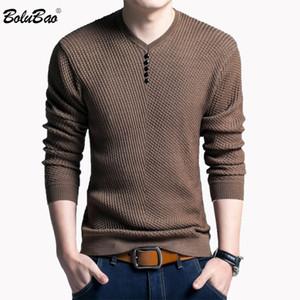 BOLUBAO модный бренд мужской свитер 2018 осень зима мужчины с длинным рукавом сплошной цвет пуловер Slim Fit свитер мужская спортивная