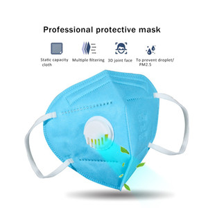 DHL готов к отправке Складной синий маска с дыхательными Valve Anti-пыль Респиратор маска с Самовсасывающий Фильтр На английском Сумки