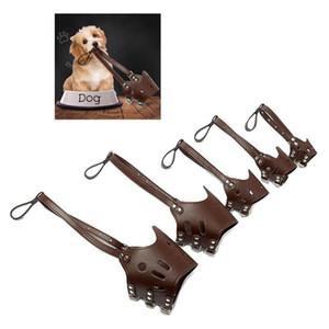Köpek Karşıtı Isırma Maske Ayarlanabilir Pet Koruyucu Ağız Kapak Anti Bark PU Nefes Yumuşak Ağız Namlu Bakım Durdurma 5 Boyut M.Ö. BH0979-5 Chew