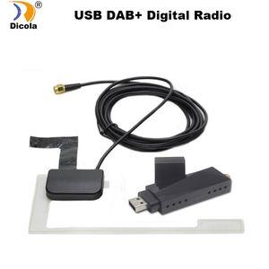 caixa DAB stick USB Radio DAB Car Tuner Receiver para a Universal Car Android DVD DAB + antena dongle USB para Android dvd player GPS