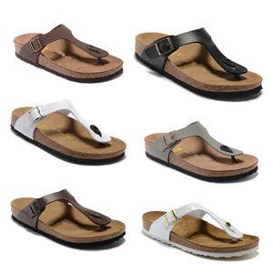 Новый фирменный стиль обуви с Orignal Логотип Мужская женщина Gizeh стиль плоские сандалии Casual елочка сандалии пляжа лета из натуральной кожи Тапочки