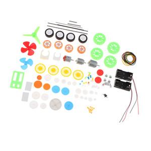 플라스틱 기어 키트 풀리 벨트 축 웜 크라운 로봇 자동차 모델 기어 박스 액세서리 조립 DIY 장난감
