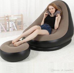 Sofá inflable portátil al aire libre con silla para acampar viajes de vacaciones bolsa de aire para dormir bolso perezoso cama de aire bolsa de aire sofá muebles DHL gratuito
