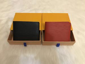 Uomini Portafogli Leather Wallet detentori di moneta del sacchetto della carta di credito Dollar Bill borsa frizione portafoglio per Boy uso a breve Portafogli
