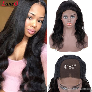 4x4 Body Wave Lace Closure Wigs Lace Front Human Hair Wigs Pre-Plucked With Baby Hair Remy Peruvian Lace Front Wigs