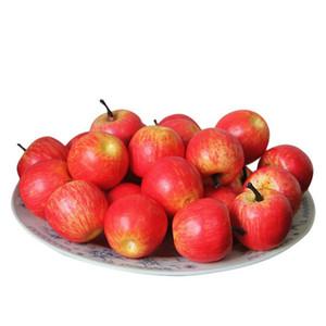 Künstliche Äpfel 50 PC-Hauptlieferungs Artificial Apple-Kunststoff ekorative Obst plantas artificiales para decoracion Orchidee