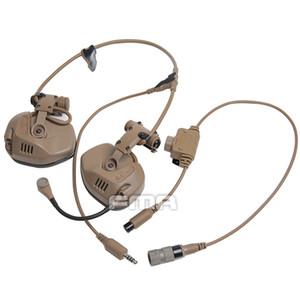 réduction du rail de casque tactique attaché de bruit de communication pour RAC casque rapide Casque de réduction du bruit Casque Communication + PTT