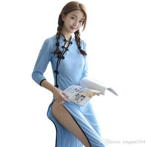Chinesische klassische Cheongsam Studentenkleid Retro Kragen Durchsichtig Rollenspiele Frauen Sexy Nachtwäsche Nachtwäsche Sexy Dessous