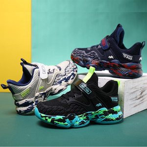 boys sport shoes new Korean 2020 spring version of the versatile middle and big students soft bottom flying woven shoes Children