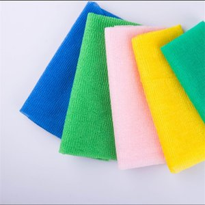 Нейлоновая сетка ванна душ мытье тела чистый отшелушивающий слоеный скребок полотенце ткань скрубберы банные инструменты RRA2917