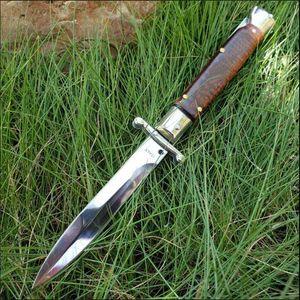 BM 9inch Snake Wood italien couteau pliant couteau automatique Couteau d'extérieur Tood Tactical EDC Pocket Double Action Manuel UT85 Auto Survival Couteau